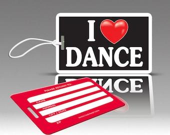 2 iHEART DANCE Luggage Tags