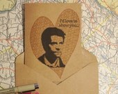 "Castiel ""I Learned That From The Pizza Man"" Card- Funny Cards, Supernatural Cards, Valentine, I Love You, Destiel, Misha Collins"
