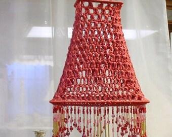 Crocheted Shade Vintage Romantic Prairie Farmhouse Shabby Chic
