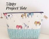 Modern Zippy Pouch - Horses