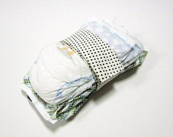 Dot Diaper Strap - Ivory Black Devorppa Noir Dot