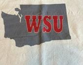WSU pillow cover