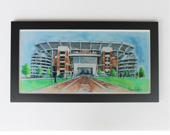 Alabama football art print - Alabama crimson tide football Alabama office decor