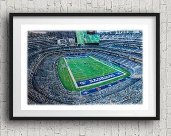 Dallas Cowboys football Poster Print
