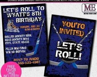 Roller Hockey Birthday Invitations   Metro-Events
