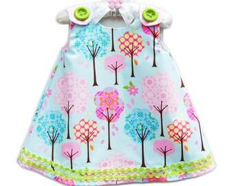 Toddler Dress - Sweet Little Things - Toddler Clothing - Top Fashion Girls - Natural Dress - Trees - KK Children Designs