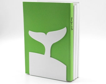 Whale Tail White Bookend, Modern And Minimalistic Style.