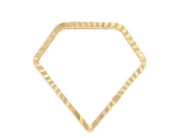10pc Gold Plated Diamond Bead Frame - 15x15mm - Geo Pendant, Dainty Charm, Jewelry Finding Jewelry Making Supplies, Ships from USA - O129
