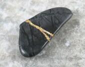 Kintsugi (kintsukuroi) inspired Picasso jasper tumbled stone - OOAK
