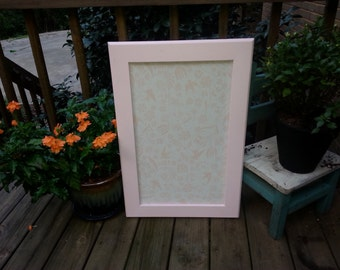 "18""x27"" Pink Frame with Fabric Cork Board"