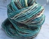 SALE! Handspun bulky luxury yarn superfine merino tencel silk