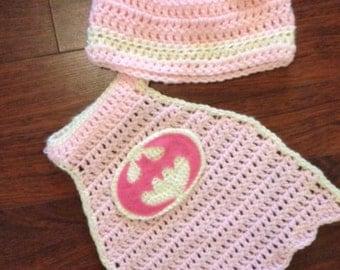 Batgirl crochet pattern (Newborn, instant download)