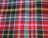 City of Aberdeen Tartan Fabric. 100% 10oz Pure New Wool. Large Remnant Piece.