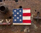 Vintage American Flag / 1950's / Original Cotton 50 Star American Flag / Farmhouse Decor