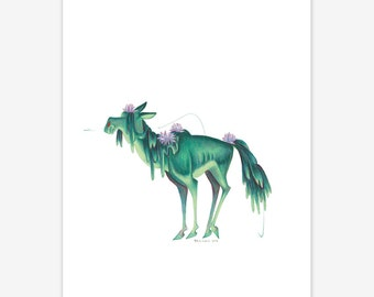Water Kelpie Mythical Creature Print A5