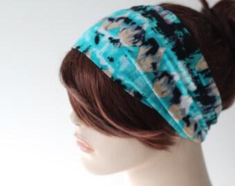 Modern Diamond Print Turban Head Wrap Teal Green Black Beige, Women's Yoga Headband, Turband, Wide Headband, Gift Ideas, Gifts for Her, Hair