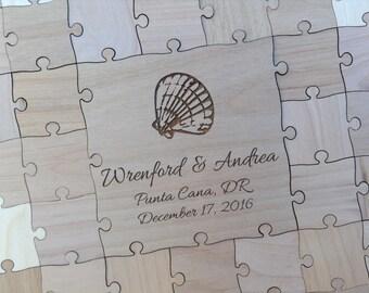 Custom 25 piece Wedding Guest Book Puzzle -Guest Book Alternative