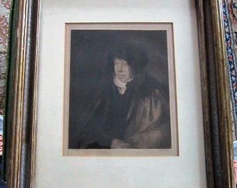 Original Etching by William B. Hole Portrait Six Different  Plates Antique Original Art