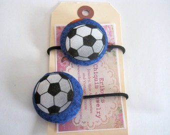 Girl Soccer Ball  Elastic Hair Ties