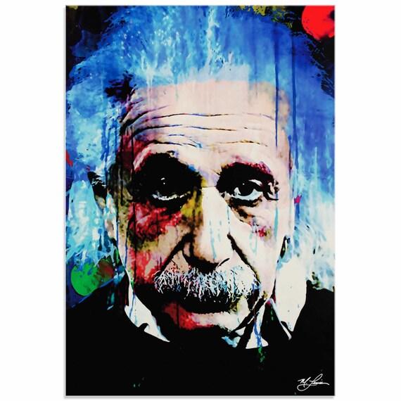 Pop Art 'Albert Einstein Questioning Tomorrow' By