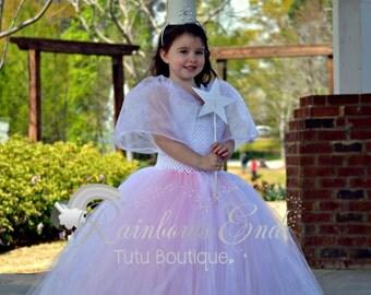 Glinda Inspired Tutu Dress - Wicked Tutu Dress - girls size 2t - 8