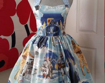 Custom Made to Order Star wars Sweet Heart Dress Sz X-Small to 3X