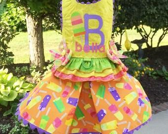 SUMMER:  Popsicle Chillin' Dog Dress