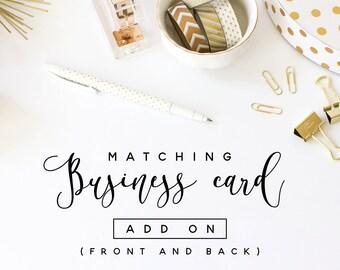 Matching business card template