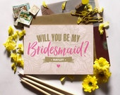 Personalised Will You Be My Bridesmaid, Flower Girl or Maid of Honour Card