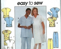 FALL SALE Misses Top, Dress, pants and Scrub Hat Pattern, Easy to Sew Medical Scrubs Uniforms Simplicity 8336 XS-M Uncut