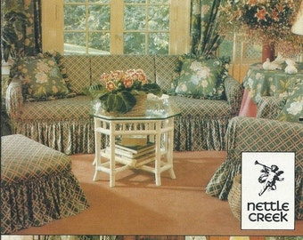 ON SALE Butterick 3093 Nettle Creek Wrap and Tie Furniture Covers Pattern UNCUT