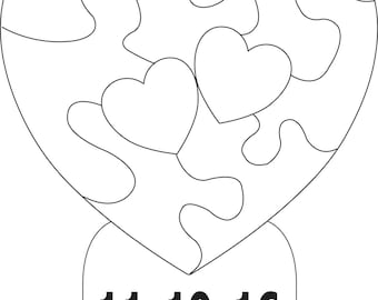 Special Listing Two Hearts Beating as One Puzzle with date