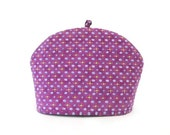 Tea Cozy / Purple Fabric Tea Pot Warmer / RedLeafStitchCraft