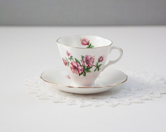 Clarence Bone China Tea Cup and Saucer made in England