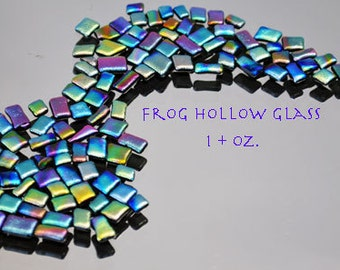 Mosaic Glass Tiles, Dichroic Tiles, Itsy Bitsy Glass Tiles in Bright Vibrant Colors