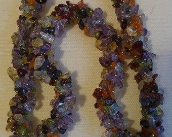 Sea Glass Cluster / Statement Necklace