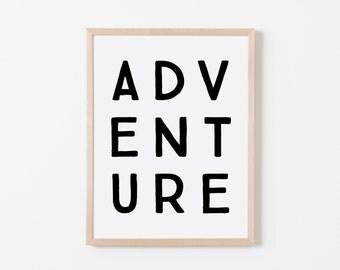 True North Adventure Art. Nursery Wall Art. Nursery Prints. Nursery Decor. Boy Wall Art. Adventure Nursery. Adventure Art. Explorer Nursery.