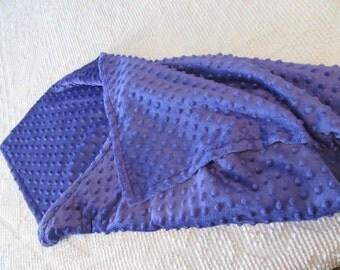 Super Soft, Super pretty Dimple Dot Minky baby blanket, pretty Purple
