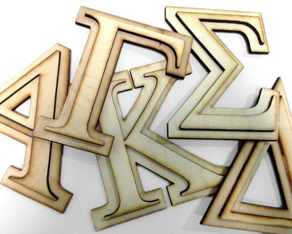 """Wooden 9""""  Two Layer Monogram Sorority Letter. (1 Letter)"""