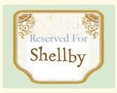 RESERVED for Shellby framed portrait
