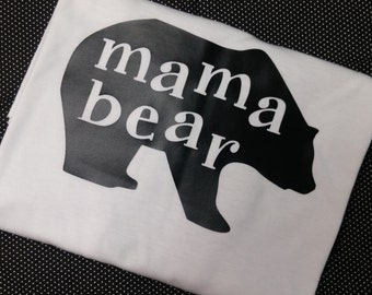Mama Bear Shirt - New Mom Shirt - Matching Bear Shirt - Mama Shirt - Mama Bear Women's Shirt
