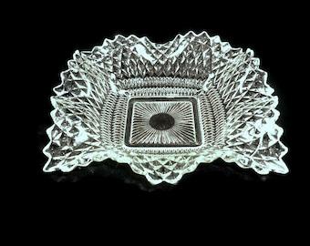 Indiana Glass Diamond Point Candy Dish Vintage