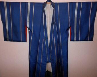 Antique kimono - Gingham check