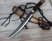 Custom handfordged Truku knife, hunting knfe, outdoor knife, handforded knife, traditional  knife