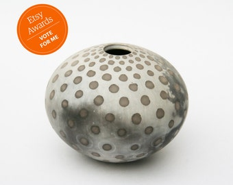 Spotted Ceramic Pot - Sawdust Fired Vessel