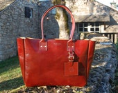 Oxblood Coloured New York Tote - Handmade leather Tote bag