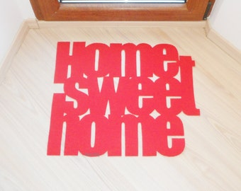 "Doormat / mat / rug  ""Home sweet home"". Personalized"