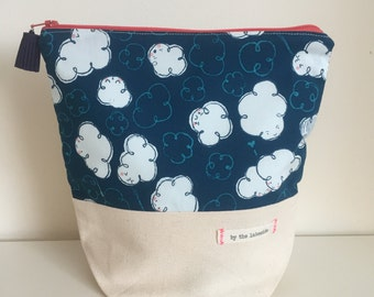 Small Project Bag - Cloudy