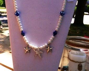 "Starfish Trio 24"" necklace"