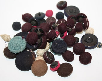 Vintage Lot of Coth buttons, some victorian handmade buttons included, Assorted, Multiple shapes and sizes, crafts, supplies, sewing